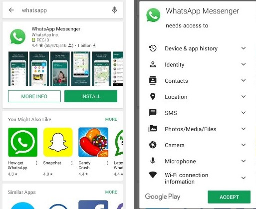 'Introduce' and afterward 'Acknowledge how to download whatsapp app