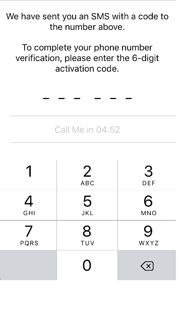 you will be sent a SMS content with a six-digit code.