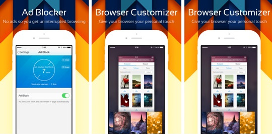 Highlights of UC Browser for iphone